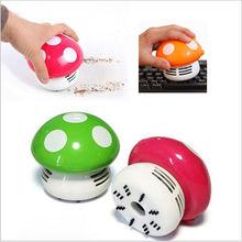 מיני שואב אבק 6 צבעים חמוד מיני פטריות פינת שולחן שולחן אבק שואב אבק לרכב מחשב ביתי מטאטא