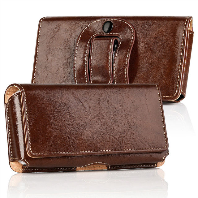 Phone Cover Belt Clip Holster Leather flip Pouch Case for iphone Samsung Huawei Xiaomi 6.3/5.5 Inch Universal Mobile Phone Bag 2