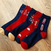 Crown Männer Socken Vier Jahreszeiten schweißabsorbierend Baumwolle Mann Socken 10 paare/los Englisch telefon männer socken