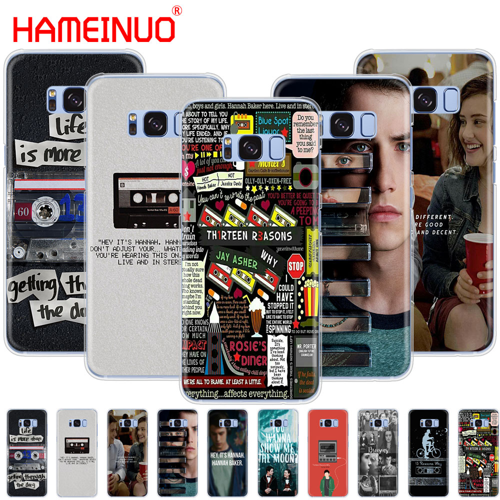 HAMEINUO Thirteen 13 Reasons Why Quotes cell phone case cover for Samsung Galaxy S9 S7 edge PLUS S8 S6 S5 S4 S3 MINI
