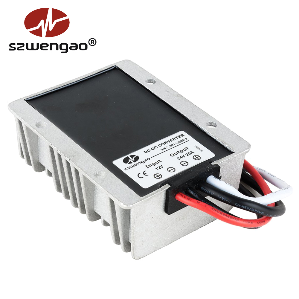US $25 0 |12V to 24V 20A DC DC Power Converter 500W Step up Voltage  Regulator Boost Module Waterproof-in Inverters & Converters from Home  Improvement