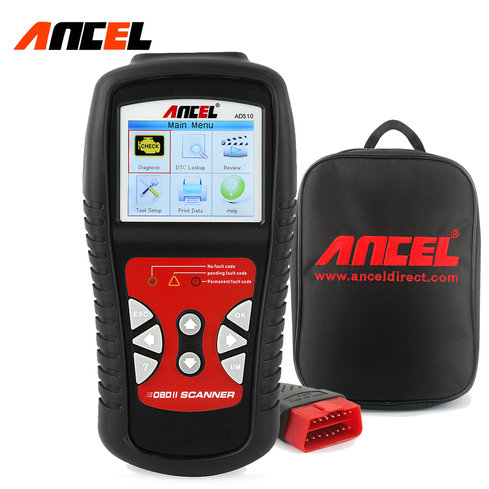 ФОТО ANCEL AD510 Universal OBD2 & CAN Car Code Reader Auto Diagnostic Tools OBD Scanner Russian Engine Analyzer Better than ELM327