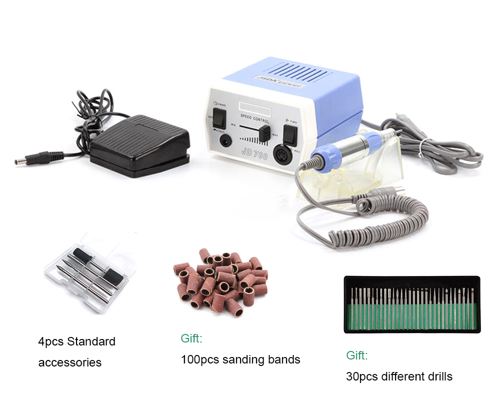 JD700 Micro Precision Electric Grinder, 35w 30000rpm Electric Nail Art Drill Machine Manicure and Pedicure цена