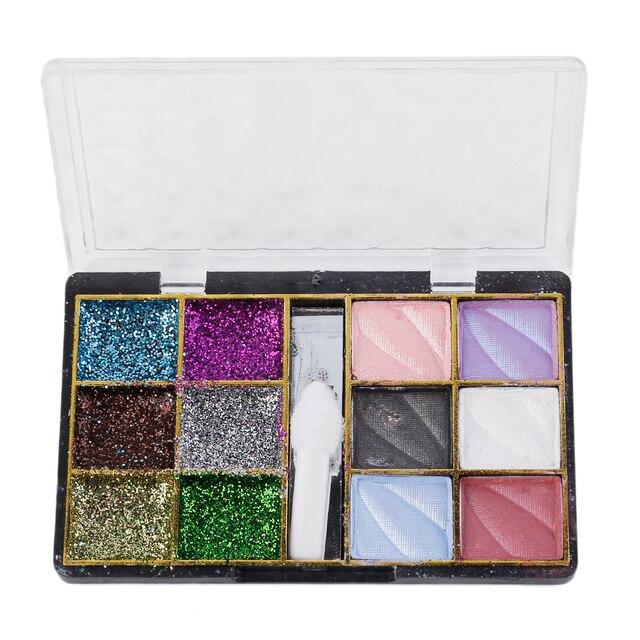 Nieuwe 12 Kleuren Oogschaduw Make Poeder Facial Make Schoonheid Shimmer Matt Schaduwen Make Markeerstift Glitter Poeder