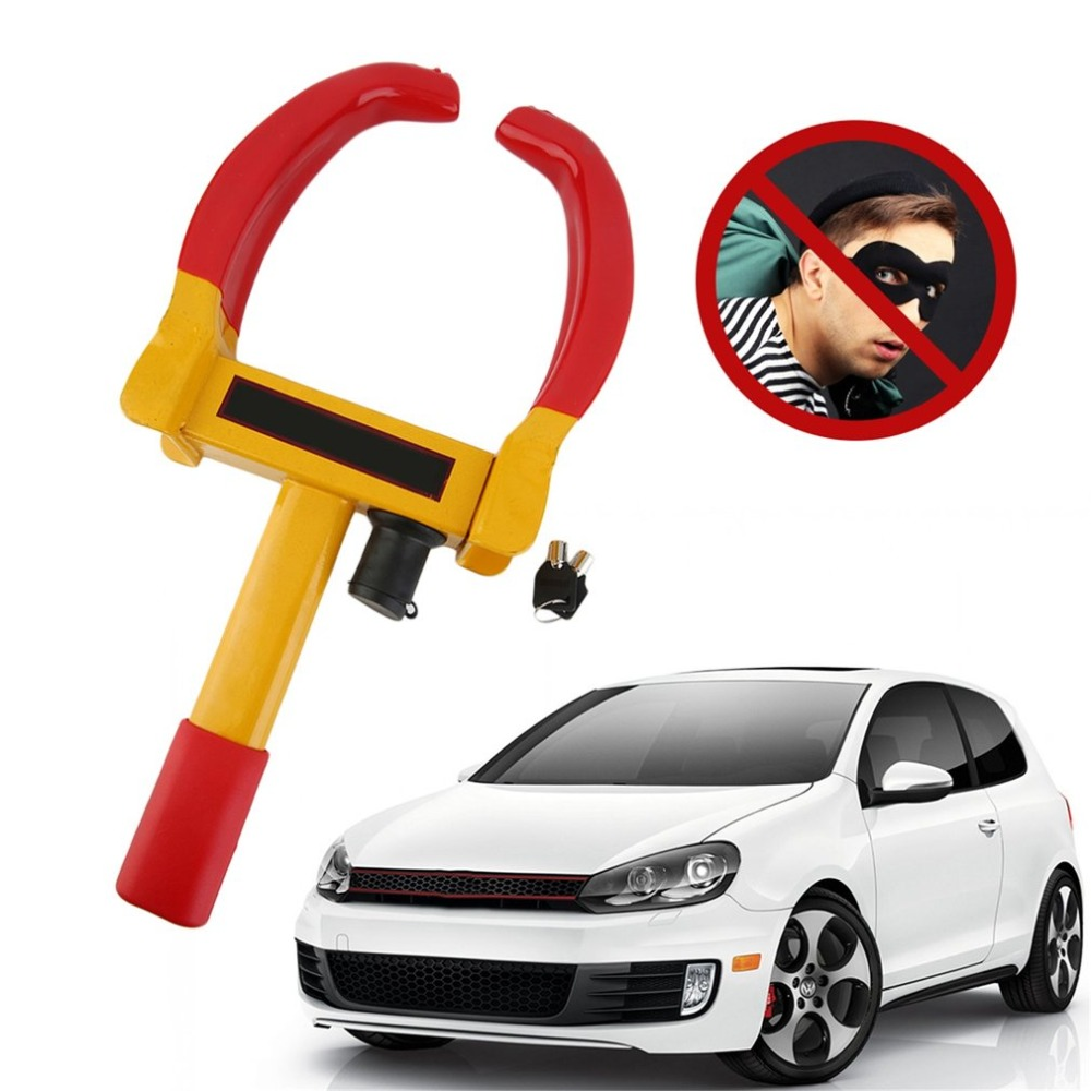 Practical Car Wheel Tire Lock Iron Clamp Parking Legal Towing Auto Boat Trailer Anti Theft Tire Clamp Lock Tyre Lock universal
