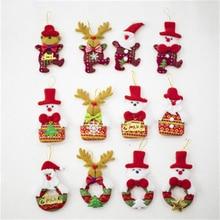 New Listing Creative Christmas Cloth Doll Pendant Tree Cute Ornament DIY Dress Up Accessories Random Style