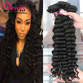 Ms Lumina Peruvian Deep Wave 4 Bundles Loose Deep Wave Weave Tissage Peruvian In Human Hair Virgin Peruvian Hair Weave Bundles