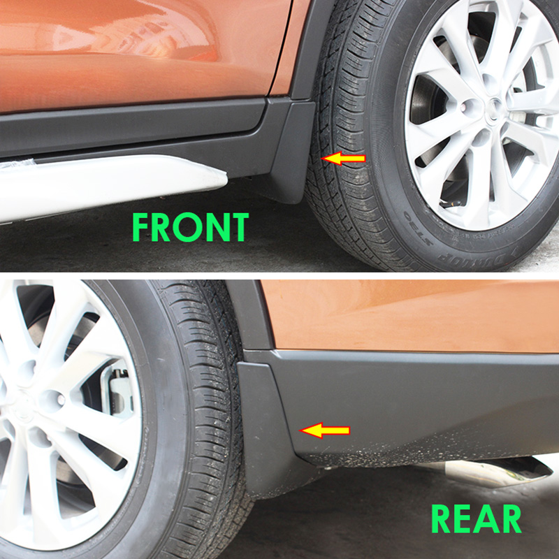 Image 5 - Set Molded Car Mud Flaps For Nissan X Trail Rouge T32 2014 2019 2016 2017 Xtrail Splash Guards Mud Flap Mudguards Fender Styling-in Mudguards from Automobiles & Motorcycles