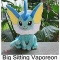 """Pokemon peluches 14.5 """" 37 cm grande sentado Vaporeon suave relleno muñeca regalo para los niños envío gratis"""