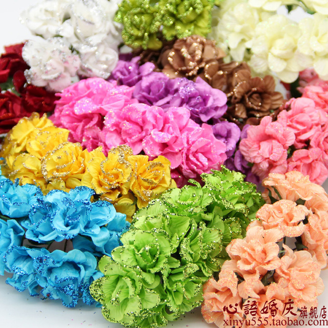 144pcs/lot Candy box decoration diy Lotus paper flowers handmade ...