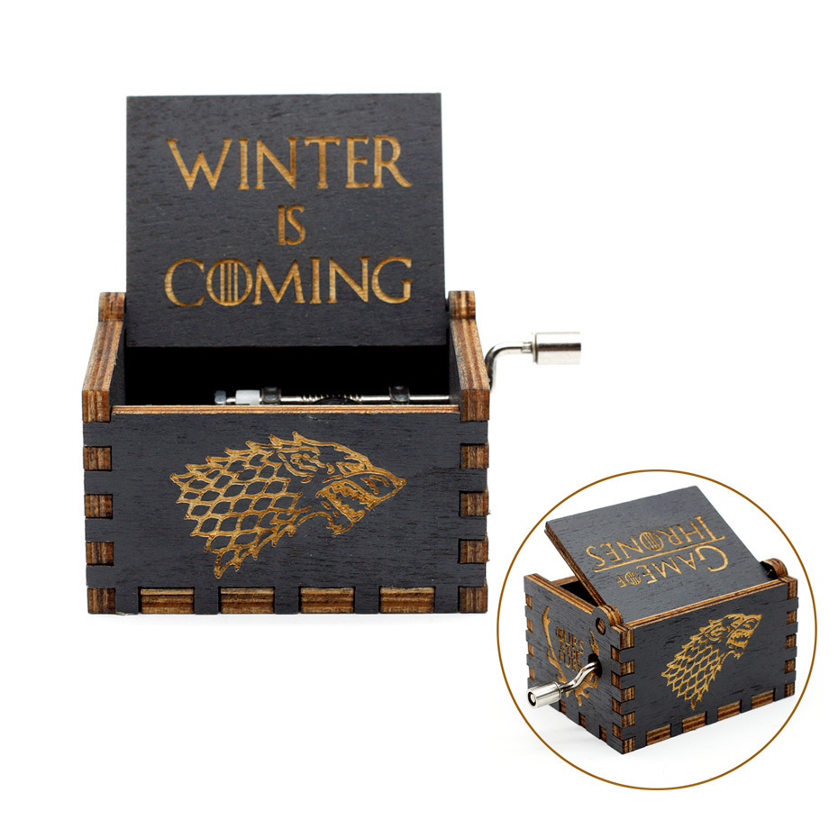 2019 New Carved Queen Music Box Star Wars Game of Thrones Castle In The Sky Hand Cranked Wood Music Box Christmas Gift in Music Boxes from Home Garden