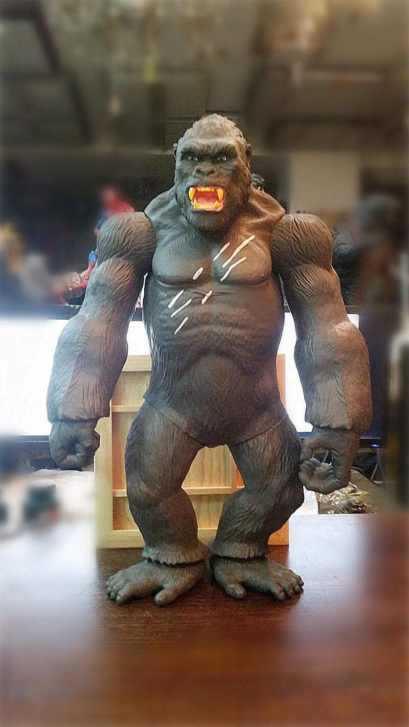 45 CM film roi Kong crâne île figurine jouet gorille Collection modèle décorations de bureau enfants cadeau jouets