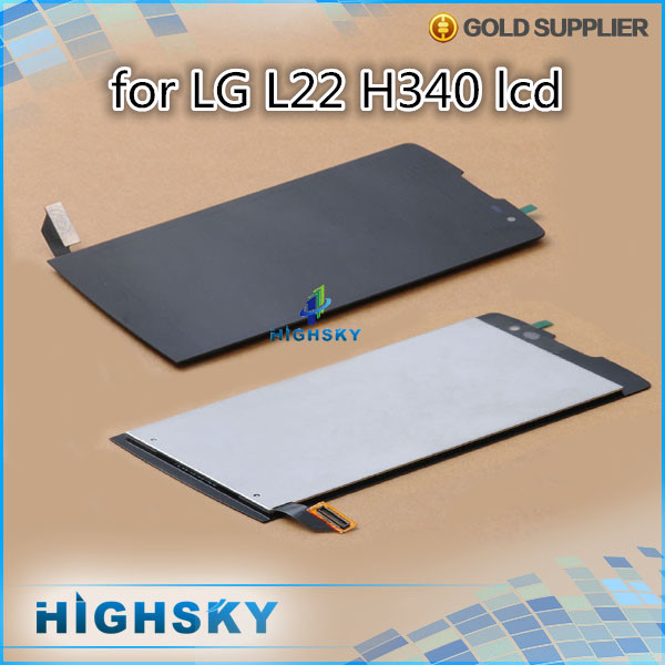 1 piece HK free shipping 100% tested replacement assembly screen for LG l22 H340 lcd display with touch digitizer