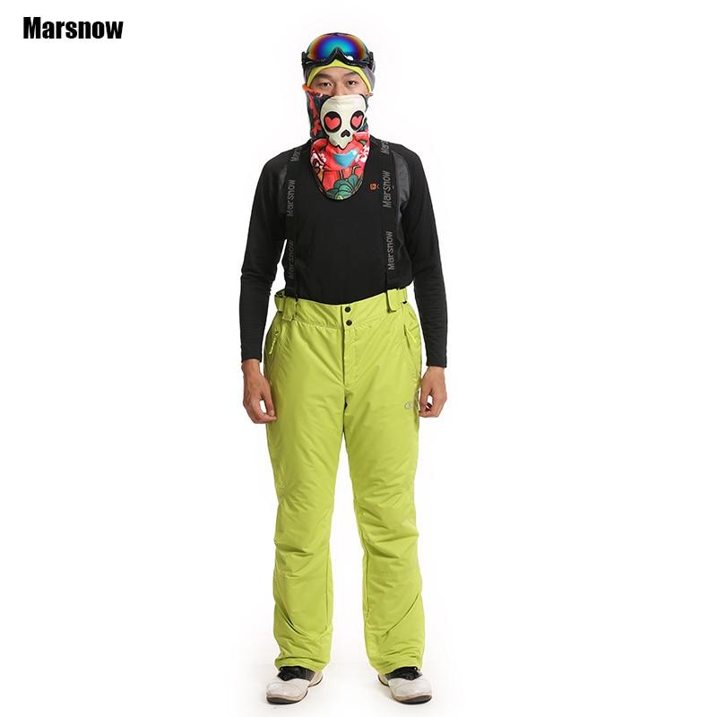 Livraison directe 2017 sports de plein air chauds pantalons de ski pour hommes pantalons d'alpinisme hiver 2 couches coupe-vent imperméable pantalon de ski