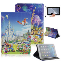 Cartoon Charecter PU Leather Fundas Case For Apple IPad Air Smart Cover For IPad 5 Flip
