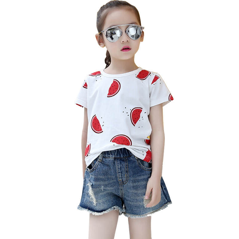 2016 Short Sleeve Children t shirts For Girls New Kids Brand Cotton Boys Clothing Summer Style ...