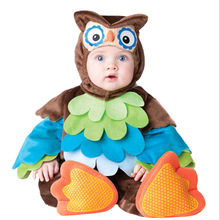 Baby Vampire Bats Cosplay Rompers Owl Animal Fancy Costumes for Little Baby Girl Boy Birthday Party Clothes Child Fancy Wear