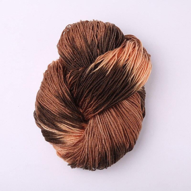 Окрашенная кричащая толстая пряжа с шерстью норки красочная акриловая пряжа с шерстью норки детские зимние свитера вязание мохер шерсть пряжа крючком иглы около 50 г - Цвет: A-11
