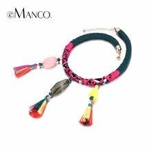 eManco Handmade Chokers Necklaces for women Bohemian Ethnic Tassel & Resin Pendant Necklace Brand Jewelry