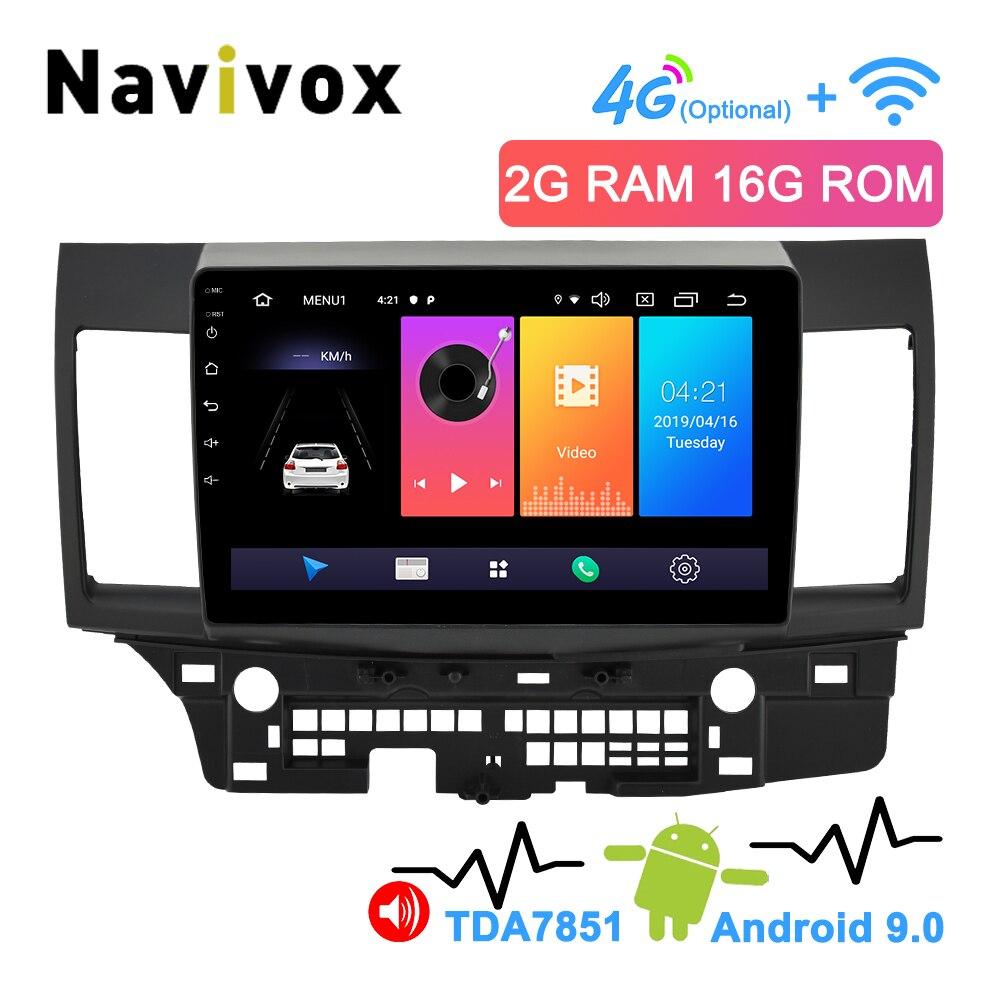 Navivox 2Din Android 9.0 voiture multimédia pour Mitsubishi Lancer 2007-2018 voiture Radio Navigation stéréo Bluetooth RDS AM/FM 4G SWC