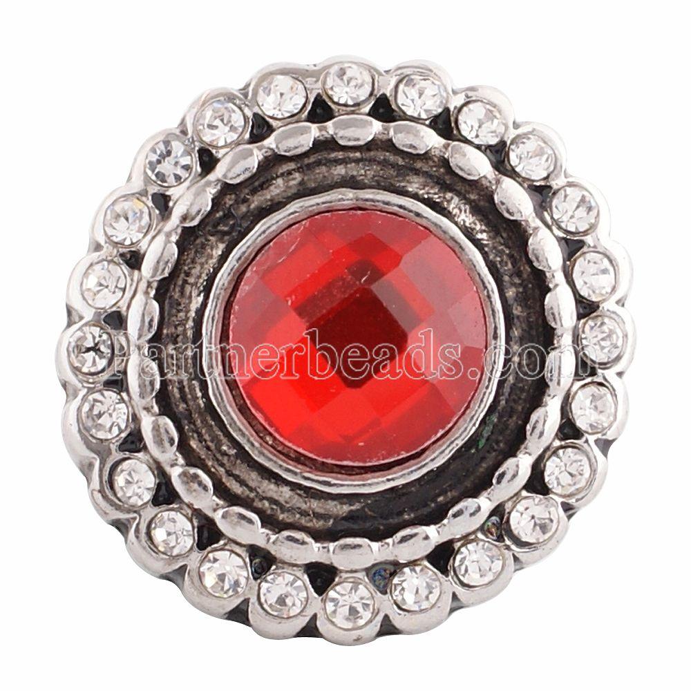 882c59bc38d6 Alta calidad al por mayor caliente Diamantes con piedras falsas Snap button  fit Snap pulsera y Brazaletes DIY 18mm joyería kc9639
