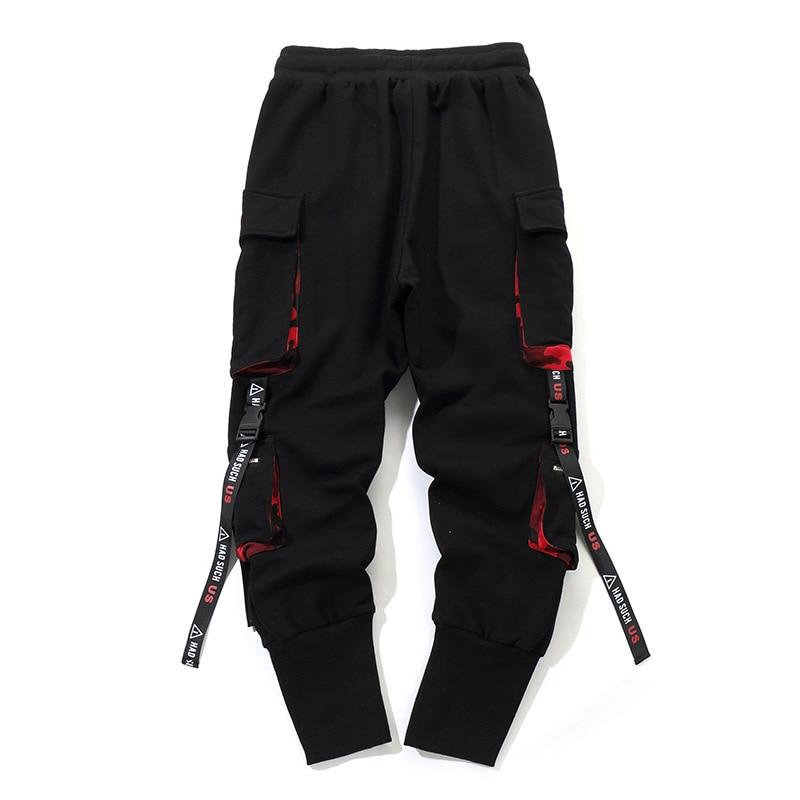 Men Work Combat Cargo Pants with Pockets Buckle Straps Techwear Trousers OPK