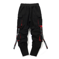 Men Work Combat Cargo Pants with Pockets Buckle Straps Techwear Trousers OPK