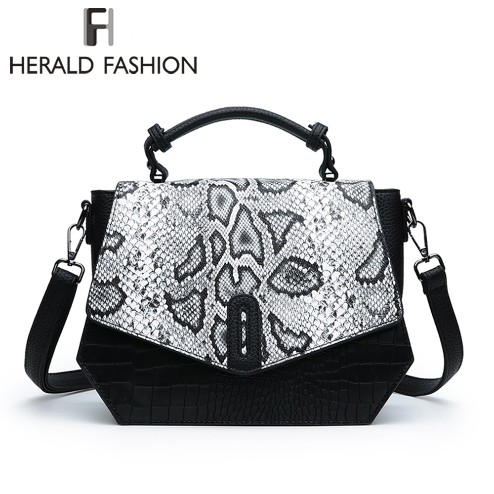 Herald Fashion Women Crossbody Bags Designer Bags Quality Leather Serpentine Envelope Vintage Shoulder Purse Evening Bags