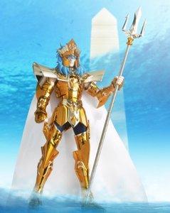 "Image 5 - Japan Anime ""Saint Seiya"" Original BANDAI Tamashii Nations Saint Cloth Myth Action Figure   Sea Emperor Poseidon"