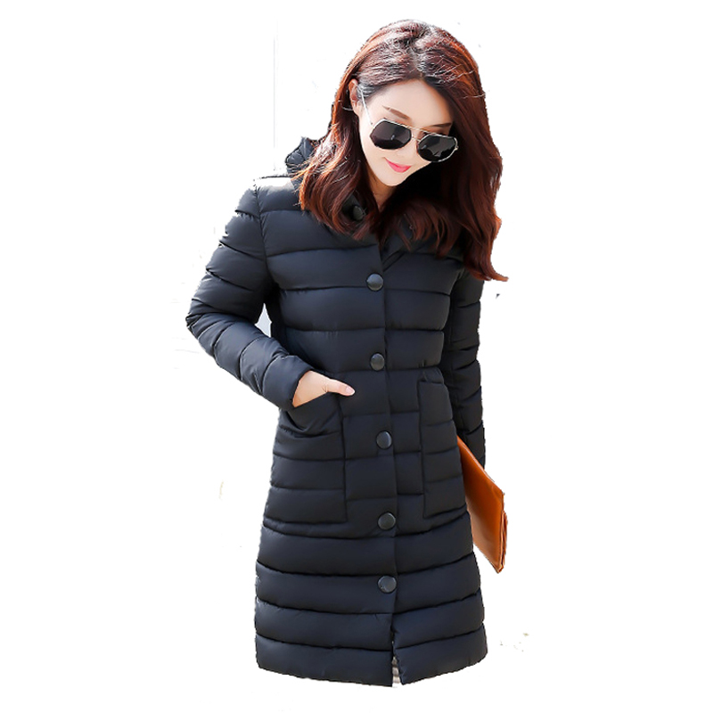 Women's padded coat 2017 Winter jacket Women Long Down Cotton Women's jackets winter jackets Plus Size parkas 2016 new long winter jacket men cotton padded jackets mens winter coat men plus size xxxl