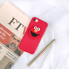 ELMO 3D bonito My Melody Anel Aperto Estande case para iphone 5 6 7 8 plus X XR XS MAX capa para Samsung galaxy S7edge S8 S9 Nota 9 S10(China)