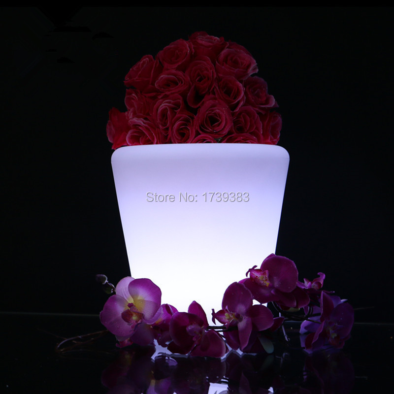 Горшок Lumineux OF LED Многоцветный ROUND S Champagne Cooler Светодиодный держатель для ведра со