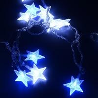 Lengte 32.8ft PVC Vijf ster LED string licht 220 V festival decoratie kerstverlichting outdoor waterdichte IP46 party lichten