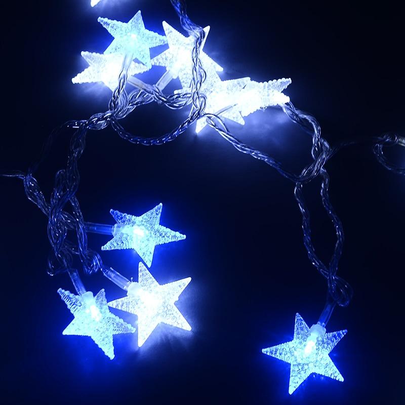Length 32.8ft PVC Five star LED string light 220V festival decoration christmas lights outdoor waterproof IP46 party lights