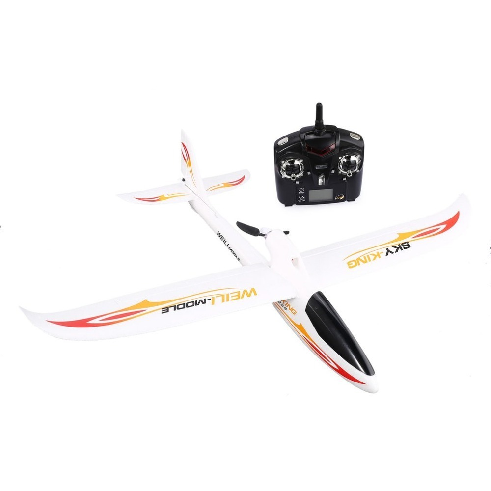 WLtoys F959 2.4G Radio Control 3 Channel RC Airplane Fixed Wing RTF SKY-King Aircraft Outdoor Drone Toy Foldable Propeller newest wltoys f949 sky king 2 4g radio control 3ch rc airplane fixed wing plane vs wltoys f929 f939 f959