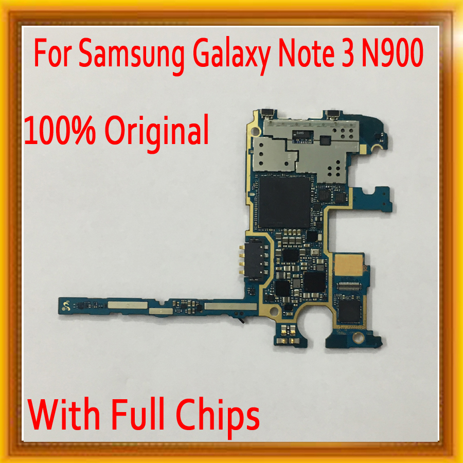 with Full Chips for Samsung Galaxy Note 3 N900 font b Motherboard b font Original unlocked