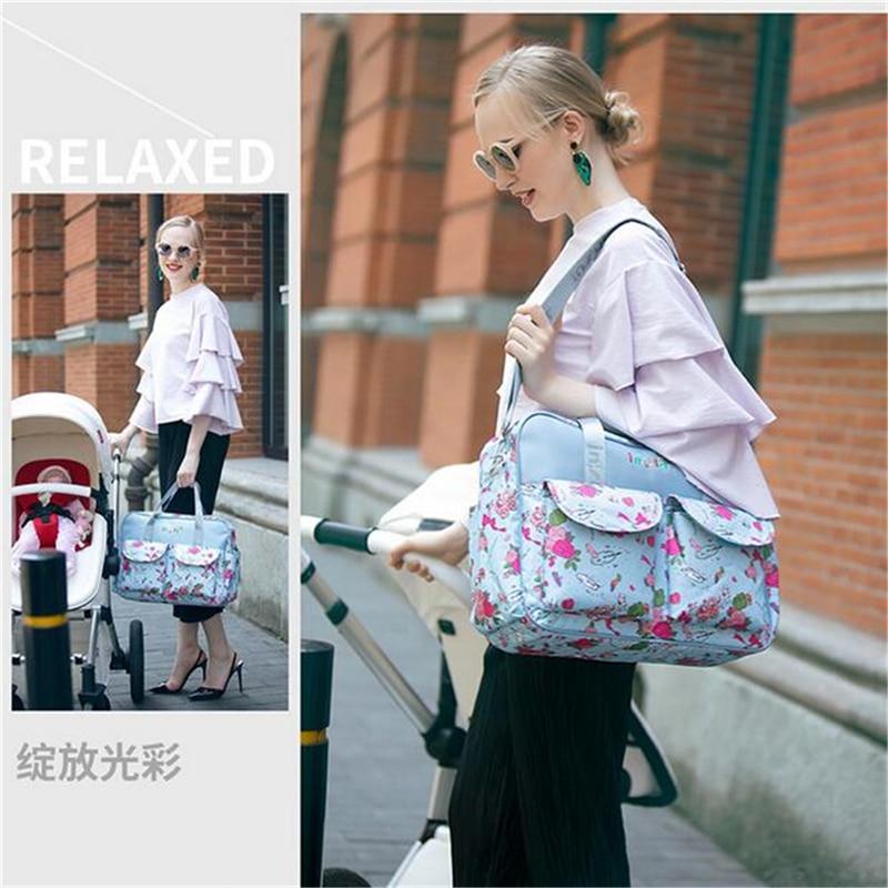HTB1wHkFLSzqK1RjSZFpq6ykSXXaa Mummy Maternity Nappy Bag Stroller bolsa Large Capacity Baby Travel Backpack Mommy Nursing Bag Baby Care Changing Diaper Bag