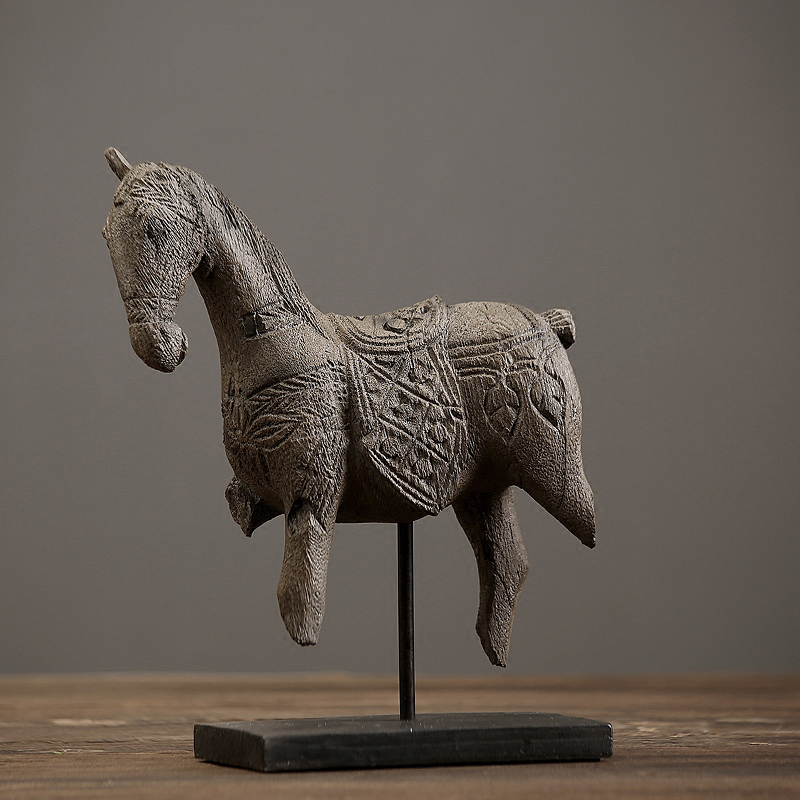 American rustic hand made crafts resin handicraft vintage horse offbeat home decor luxury retro home furnishing ornaments