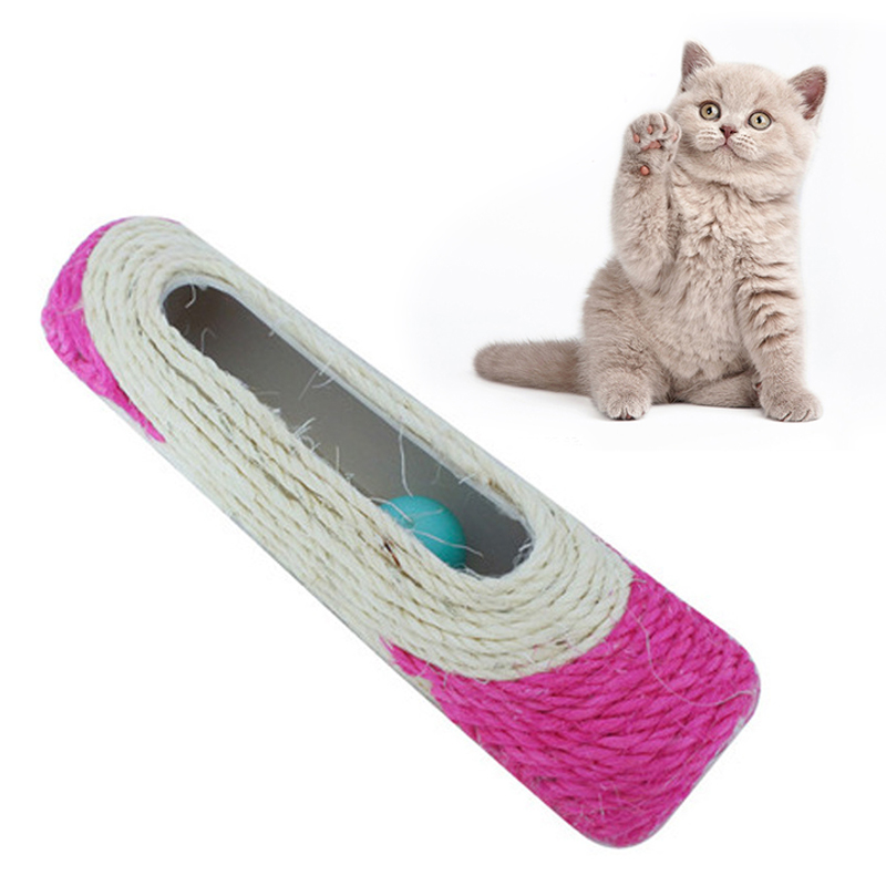 Long Roller <font><b>Cat</b></font> Scratch Foot Protection Board <font><b>Pet</b></font> Toy Sisal Furniture Protection <font><b>Cat</b></font> <font><b>Tree</b></font> Climbing With Three Ball <font><b>cat</b></font> <font><b>tower</b></font> image