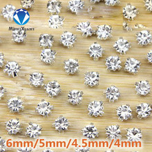 MINGXUAN 50pcs 3D Anti scratch claw rhinestone Sew on stones