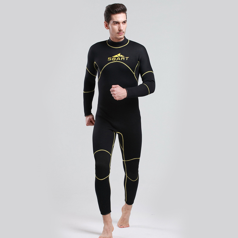 ФОТО H743  3MM Rubber Diving Suit Warm Winter Swimming Jellyfish Thicker Long-Sleeved Clothing Piece Swimsuit ,Man Wet Surfing Wet