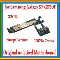 100% Original Unlock Motherboard For Samsung Galaxy S7 G930F 32GB EU Version Mainboard Android OS Logic Board With Chips