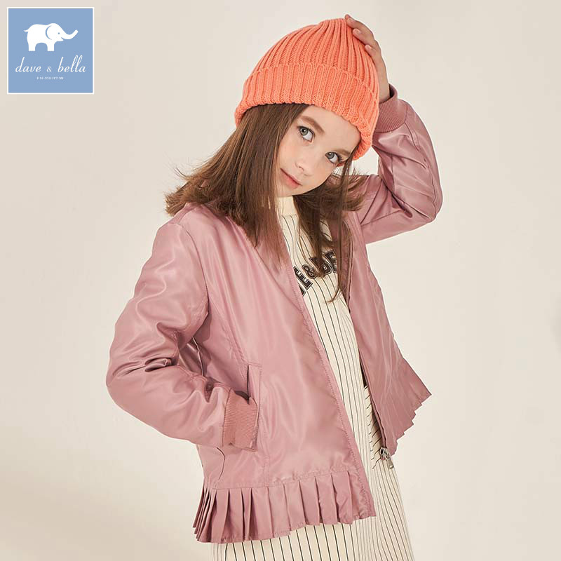 DBK8130 dave bella autumn fashion kids girls 5Y 13Y coat children long sleeve high quality coat
