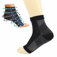 New Comfort Foot Anti Fatigue Crew Socks Compression Sleeve Relieve Swelling Socks Women Men Anti-Fatigue Socks Red Casual Sport ella bache maximum anti fatigue moisturiser salon product