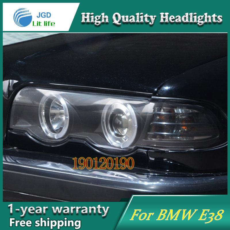 JGD Marque Nouveau Style pour BMW E38 728 730 735 740 750 LED Phare 1998-2002 Phare Bi-xénon Tête Lampe LED DRL De Voiture lumières
