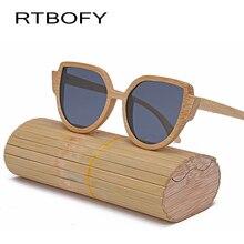 RTBOFY 2017 Деревянный темные очки Мода Cat Eye очки солнцезащитные женские Марка Дизайнер Ретро Пронзили Женские Солнцезащитные Очки óculos де золь feminino UV400