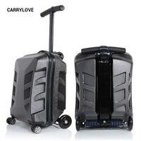 CARRYLOVE Высокое качество 100% шт.. персональный, шикарный скутер чемодан переноска на Спиннер мульти функция путешествия багаж 21
