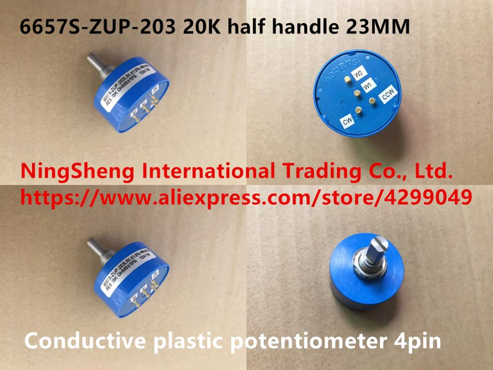 Original new 100 Mexico import 6657S ZUP 203 20K conductive plastic potentiometer 4pin half handle 23MM