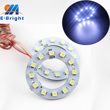 YM E-Bright !!! 2pair(4pcs) 40MM Angel Eye 12SMD 1210 3528 LED Halo Rings DC 12V DRL Lamp Headlight Retrofit Car Lighting
