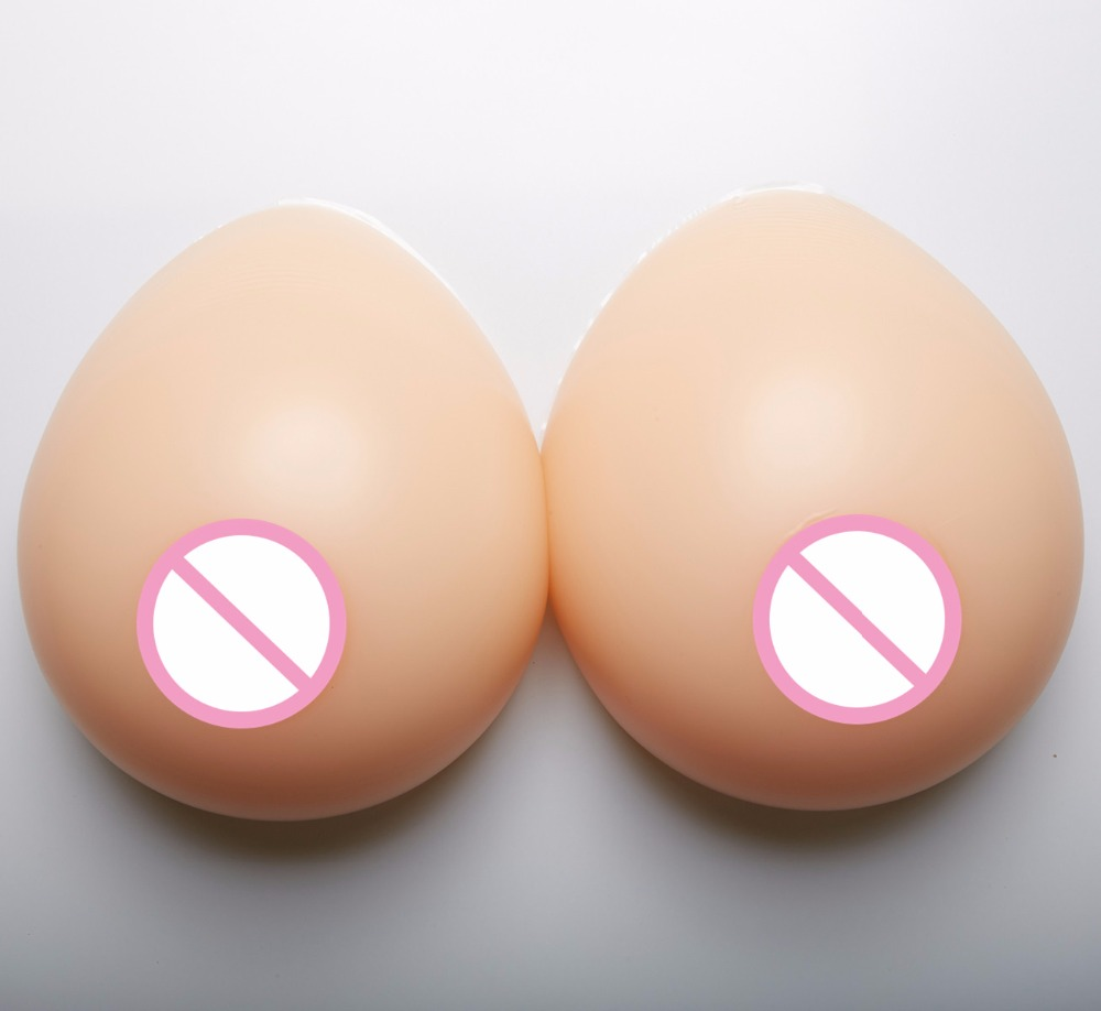 Crossdresser TG TV Artificial Fake Boobs 1800g/pair Realistic Silicone Breast Forms Boobs Enhancer F Cup цена